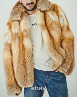 Mens Fox Fur Coat Winter Fur Jacket Outfit, Plus Grande Offre