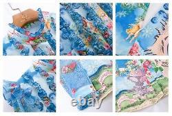 Multicolore Bleu Chic Piste Baroque Ange Chemise Blouse Jupe Costume Ensemble De Costume 2