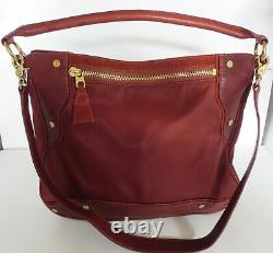 Mz Wallace Kit Rust Bedford Nylon Withleather Suede Trim Hobo Sac À Main