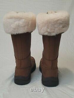 New Ugg W Adirondack III Tall Bottes De Châtaigne Taille 8 Laine Imperméable Avec Kit De Soins