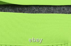 Nouveau Designer Couture Bright Lime Green Bandage Set Co-ord Skirt & Top Set Outfit