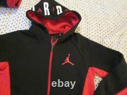 Nouvelle Nike Air Jordan Outfit + 17 Backpack+zip Up Hoodie+pants Ymd 10-12 Freeship