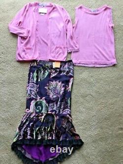 Nouvelles Femmes Oscar De La Renta Etro Cardigan Top Skirt Party Work Outfit 2655 $ Nwt