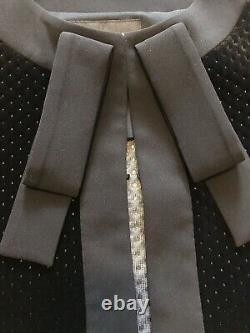 Nwot Designer Boutique Moschino Femmes Black Velvet Blazer Outfit + Jupe 970 $