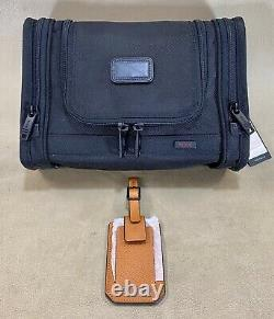Nwot Tumi Hanging Travel Kit Toiletry Bag 22191dh & Camden Leather Luggage Tag