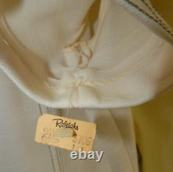 Nwt Route One Polyester MID Century Womens Pant Suit Outfit White Misss Taille 14