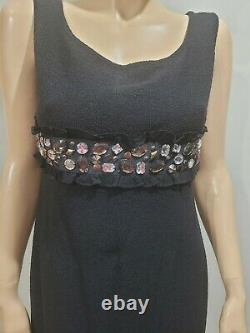 Nwt St John Taille 6 8 Black Dress Blazer Jacket Two Piece Outfit