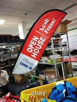 Open House Business Feather Flag Sign Kit Banner Advertising Home No China