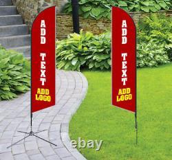Panneau D'affaires À Côtés Personnalisés Bannière Bannière Tall Blade Forme Drapeau Drapeau Pas De Chine