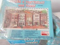 Rare Vintage N Scale 5 Business Buildings Kit Form Factory Sealed Nouveau