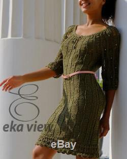 Robe Crochet Tenue Horserace Vert Olive Plus Belle Robe Apparence Tv Cou Profonde