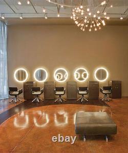 Salon Hair / Tanning Business Led Lighted Mirror Kit Panneau De Décoration Mural Déco
