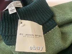 St. John Sport Marie Laine Outfit Grand 2 Pc. Costume Set Pant Tweater Vert