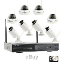 Système De Caméra De Sécurité De Surveillance Business Kit Sans Fil 8 Caméras Nvr Recorder