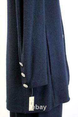 T.n.-o. 1033 $ St John Skirt Suit Admiral Blue Santana Knit 2pc Sweater Outfit L 14