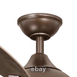 Ventilateur De Plafond De 56 Pouces Avec Led Light Remote Control Kit 5 Lames Huile Frottée Bronze