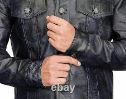 Veste De Camionneur En Cuir Souple Pour Homme Western Denim Levis Style Outfit