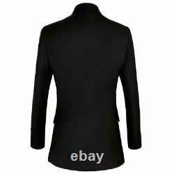 Veste De Costume Noir Pour Hommes Nouvelle Tenue Officielle Tenue Décontractée Robe À Manches Longues Minces