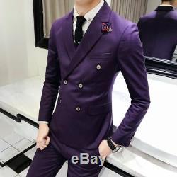 Veste Homme Coloré Formelle Élégante Tenue À Manches Longues Attire Costume D'affaires