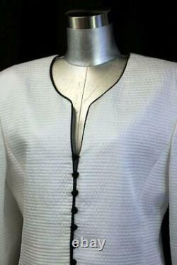 Vintage T.n.-o. 1555 $ Mary Mcfadden Jupe Costume Outfit Couture Black White Large 14