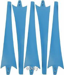 Yaemarine 400w 12v Wind Turbine Entreprises 5 Blade Turbine Kit (blue)