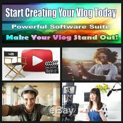 Youtube Podcast Vlog Business Kit Pro Gold Edition Logiciel Et Diffusion Bundle