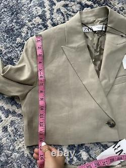 Zara Lin Cropped Blazer & Jupe Co Ord Matching Set Outfit Taille M Bnwt 169 $